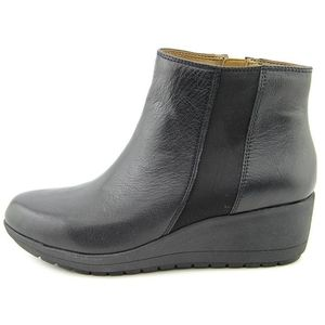 Easy Spirit e360 Leather Wedge Booties, Size 8.5M